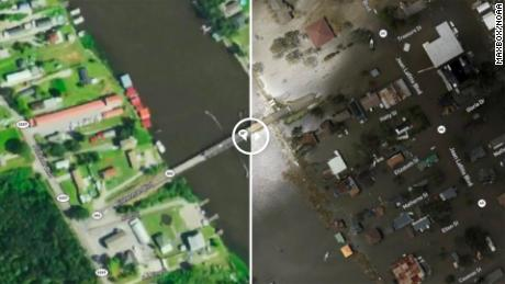 Before-and-after aerial images show devastation left by Ida in Louisiana